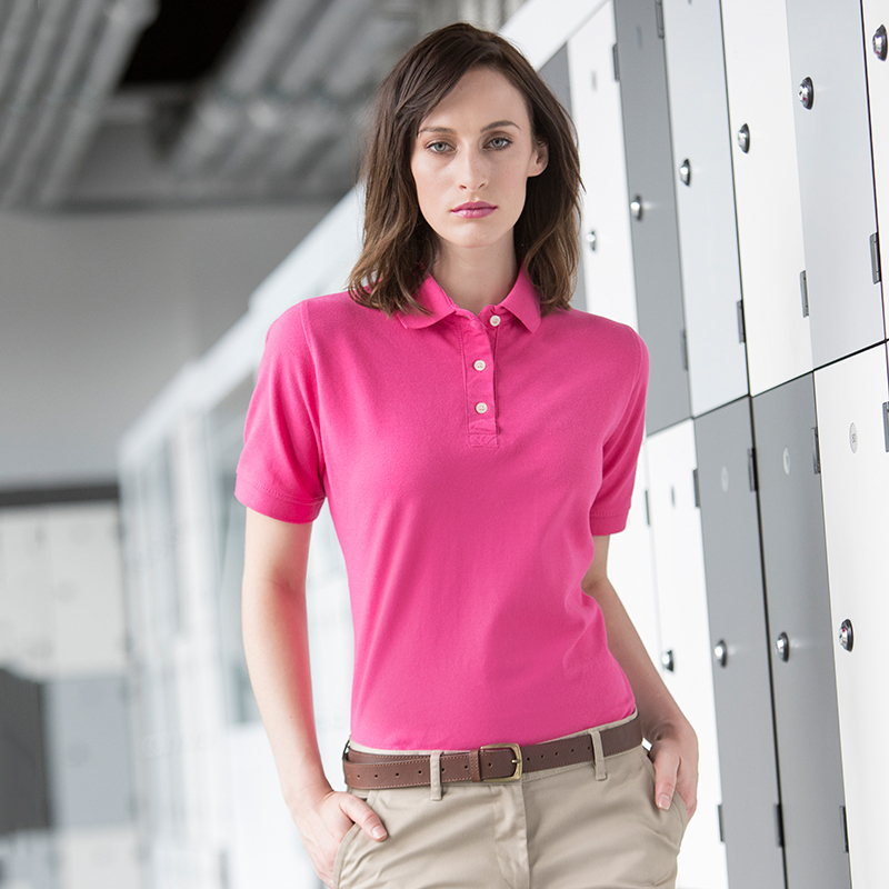 Womens classic cotton piqué polo shirt