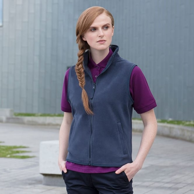 womens sleeveless microfleece jacket HB856
